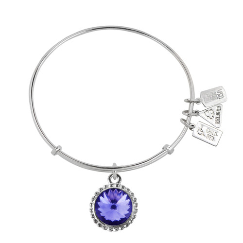 "Wind and Fire ""TANZANITE"" Charm with Bangle WF-145B"