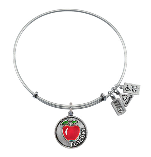 Wind and Fire Teacher with Red Apple Charm with Bangle WF-334ES
