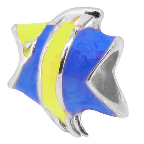 ZABLE Blue Enamel Fish Bead Charm  BZ-972 fits Pandora