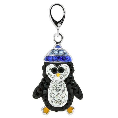 ZABLE Crystal Penguin Charm LC-410