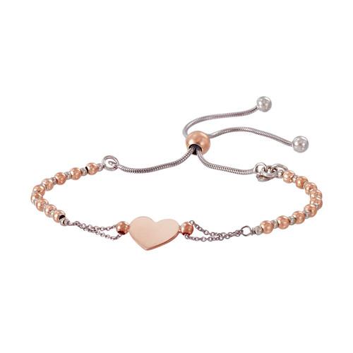 Franco Stellari™ of Italy Sterling Silver Heart Bolo Bracelet SS3625