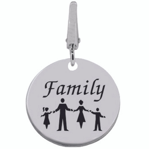 Authentic ZABLE FAMILY Engraveable Clip-on Charm SS5135