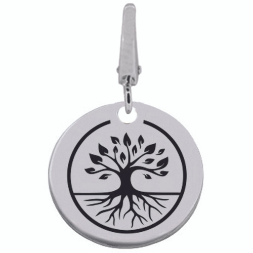 Authentic ZABLE FAMILY TREE Engraveable Clip-on Charm SS5136