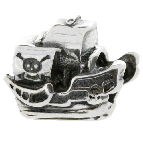 ZABLE Pirate Ship Bead Charm BZ-1960, fits Pandora.