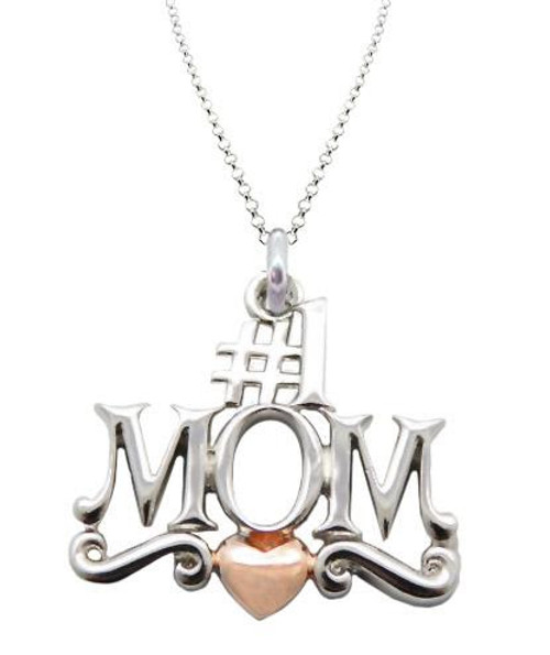 """ZABLE #1 MOM 2-Tone Pendant with 16-18"""" Adjustable Chain SS8412"""