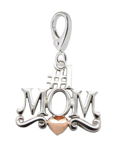 ZABLE #1 MOM 2-Tone Clip-On Charm LC-412