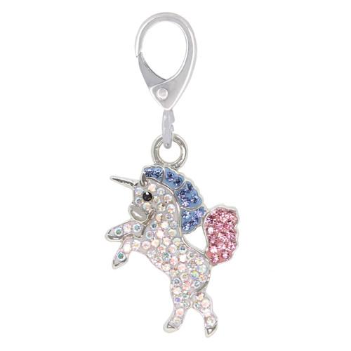ZABLE Crystal Unicorn Clip-On Charm LC-420