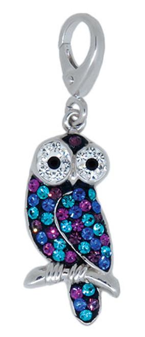 ZABLE Crystal Owl Clip-On Charm LC-406