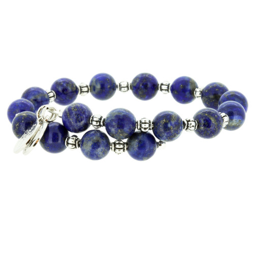 Wind and Fire Lapis Gemstone Wrap 8mm bead size