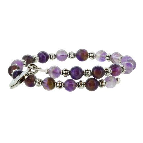 Wind and Fire Amethyst Gemstone Wrap 6mm size bead