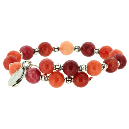 Wind and Fire Red Quartz Gemstone Wrap 8mm Bead Sizes