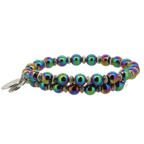 Wind and Fire Rainbow Hematite Gemstone Wrap WF-855