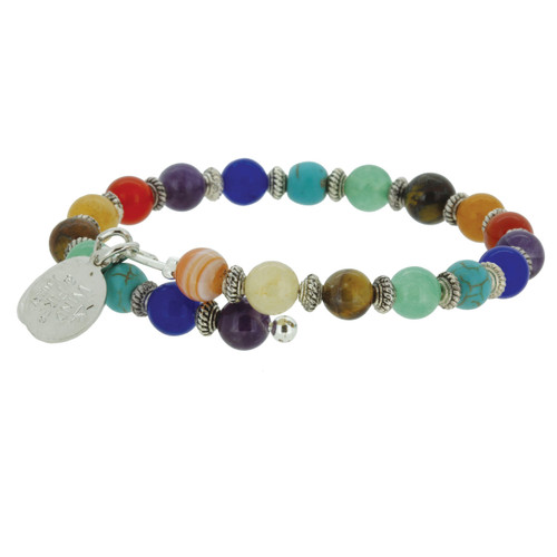 Wind and Fire Chakra Gemstone Wrap WF-860