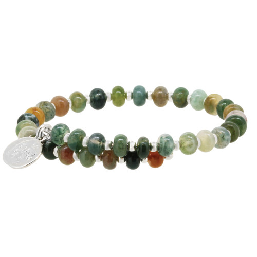 Wind and Fire Jasper Rondelle Gemstone Wrap WF-891