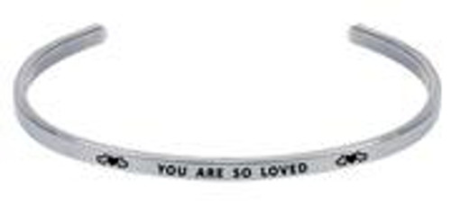 """Wind and Fire Adjustable Cuff """"You Are So Loved"""" WF-1298 fits all sizes"""