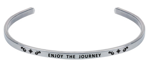 """Wind and Fire Adjustable Cuff """"Enjoy The Journey"""" WF-1392 (retired)"""