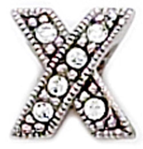 "ZABLE CZ ""X"" Kisses Bead Charm BZ-1004"