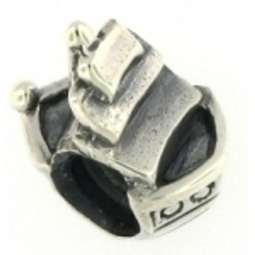 Biagi Pirate Ship bead charm, fits Pandora