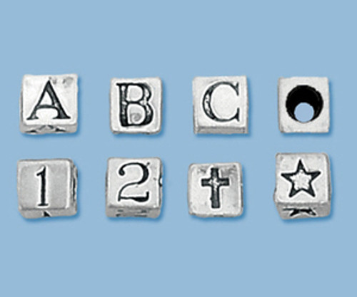 Letter Number Symbol Bead Charm fits Biagi Kidz
