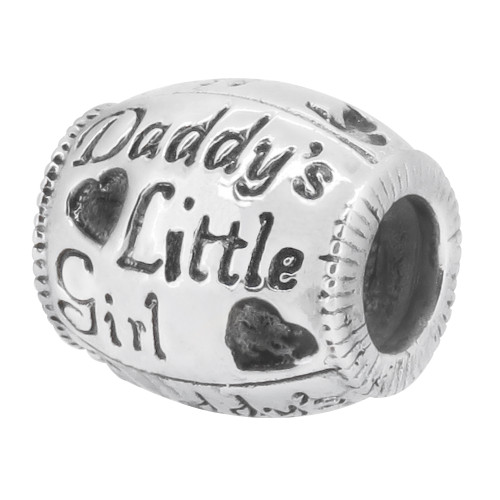 Zable bead charm, Daddy's Little Girl, fits Pandora, compatible with Pandora