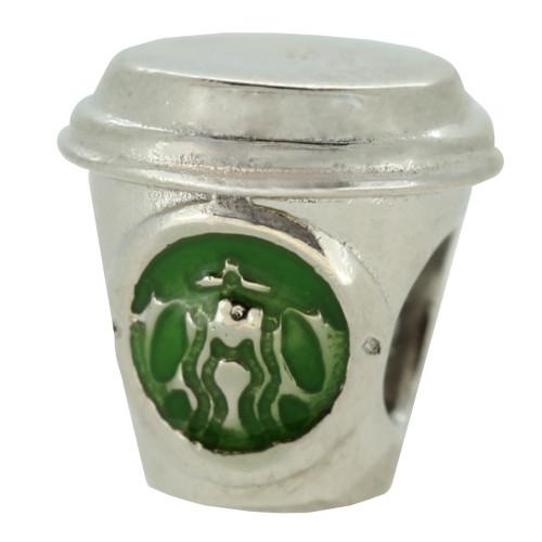 ZABLE Enamel Starbucks Coffee Bead Charm BZ-1475, fits Pandora.