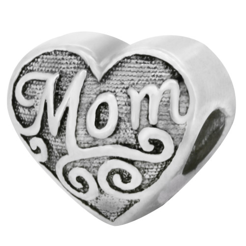 Zable bead charm Mom Heart, fits Pandora, compatible with Pandora