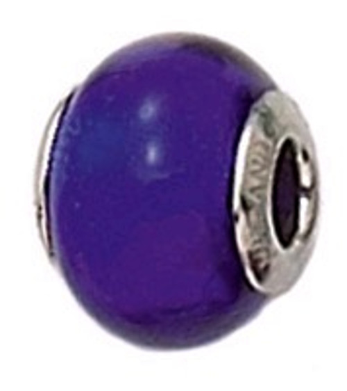 ZABLE Murano Glass Bead Charm September Blue BZ-1509