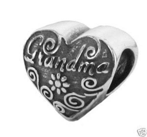 ZABLE Grandma Heart Bead Charm BZ-1912