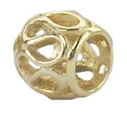ZABLE Gold over Sterling Silver Filigree Bead Charm BZ-3011