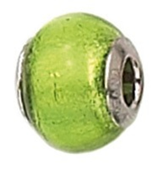 ZABLE August Birthstone Murano Green Glass Bead Charm BZ-1508