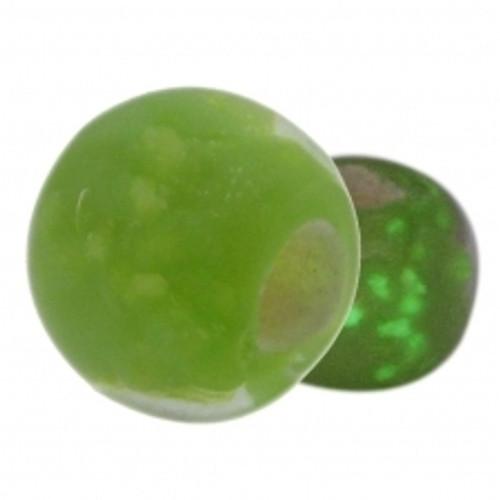 BIAGI KIDZ Green Glow in the Dark Glass Bead Charm BGG09G