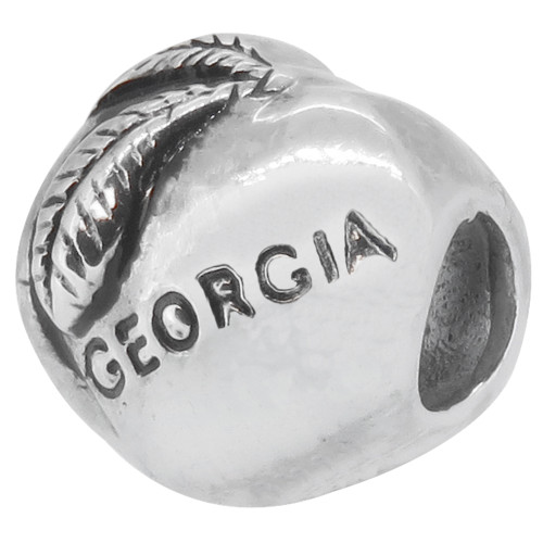 ZABLE The Georgia Peach Bead Charm BZ-176 fits pandora.