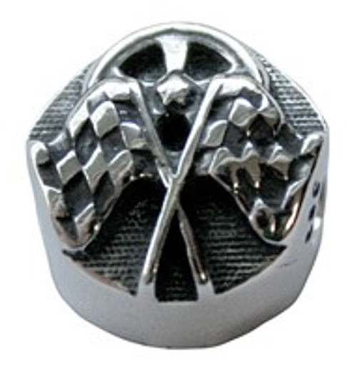 ZABLE Checkered Flags Bead Charm BZ-2050