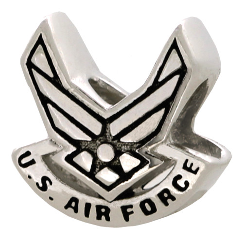 ZABLE US Air Force Emblem Bead Charm BZ-2028 fits pandora, like pandora, compatible with pandora.