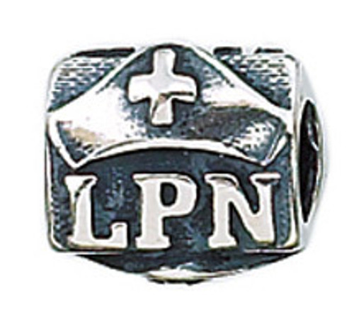 ZABLE LPN Nurse Hat Bead Charm BZ-2043