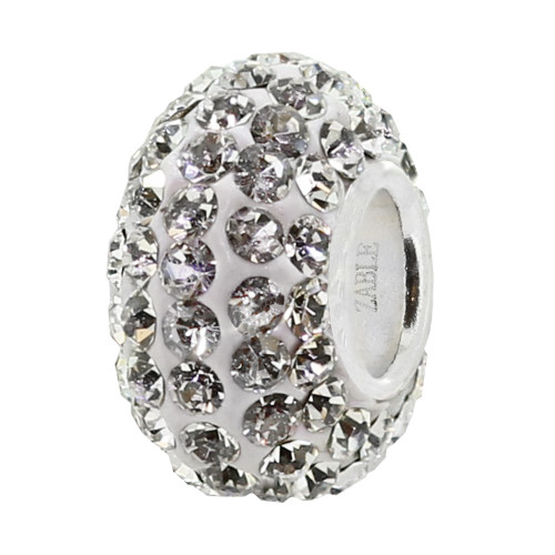 ZABLE April Clear Crystal Studded Bead Charm BZ-1073 fits Pandora