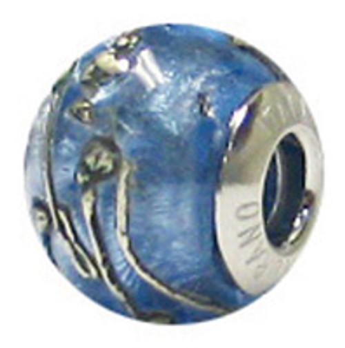 ZABLE Murano Blue Glass Bead Charm BZ-1584