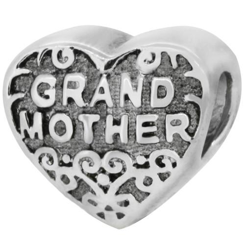 Zable bead charm Grandmother, fits Pandora, compatible with Pandora