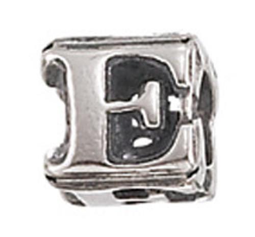 """ZABLE """"E"""" Letter Bead Charm BZ-1805"""