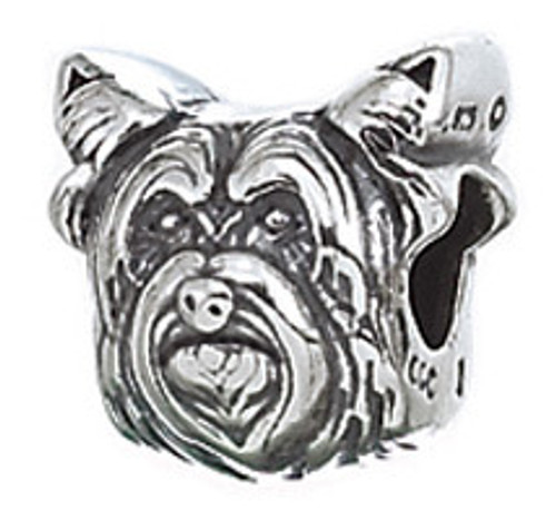 ZABLE Yorkshire Terrier Dog Bead Charm BZ-2087, fits Pandora.