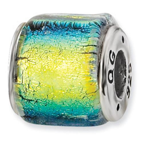 Reflections Dichroic Glass Bead Charm QRS1481
