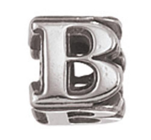 """ZABLE """"B"""" Letter Bead Charm BZ-1802"""