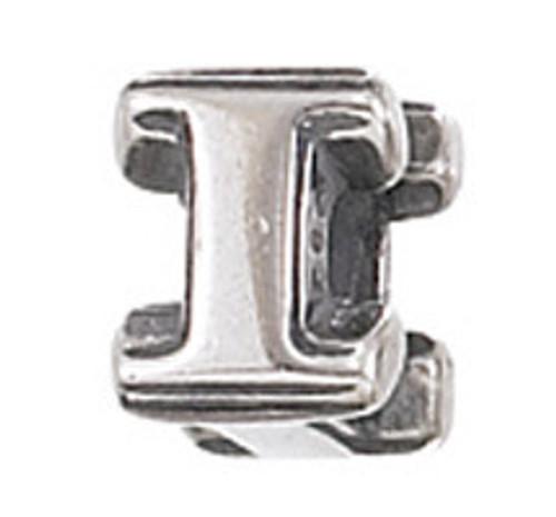 """ZABLE """"I"""" Letter Bead Charm BZ-1809"""