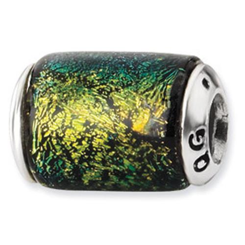 Reflections Dichroic Glass Bead Charm QRS1491