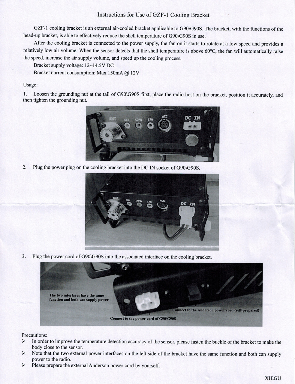 This is the instructions for assembling the fan on the G90