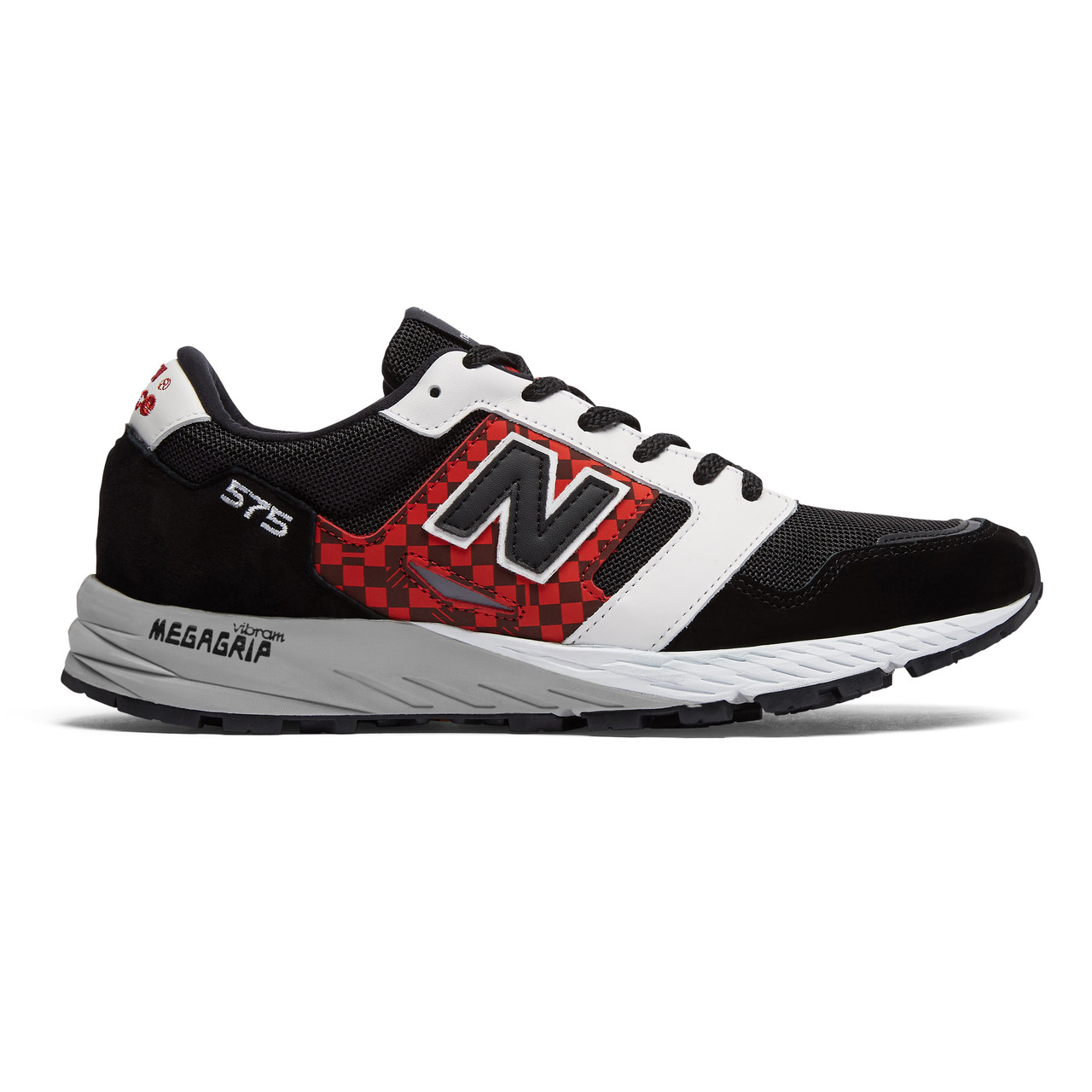 New Balance Men's Made In England 575 - Black with White and Red