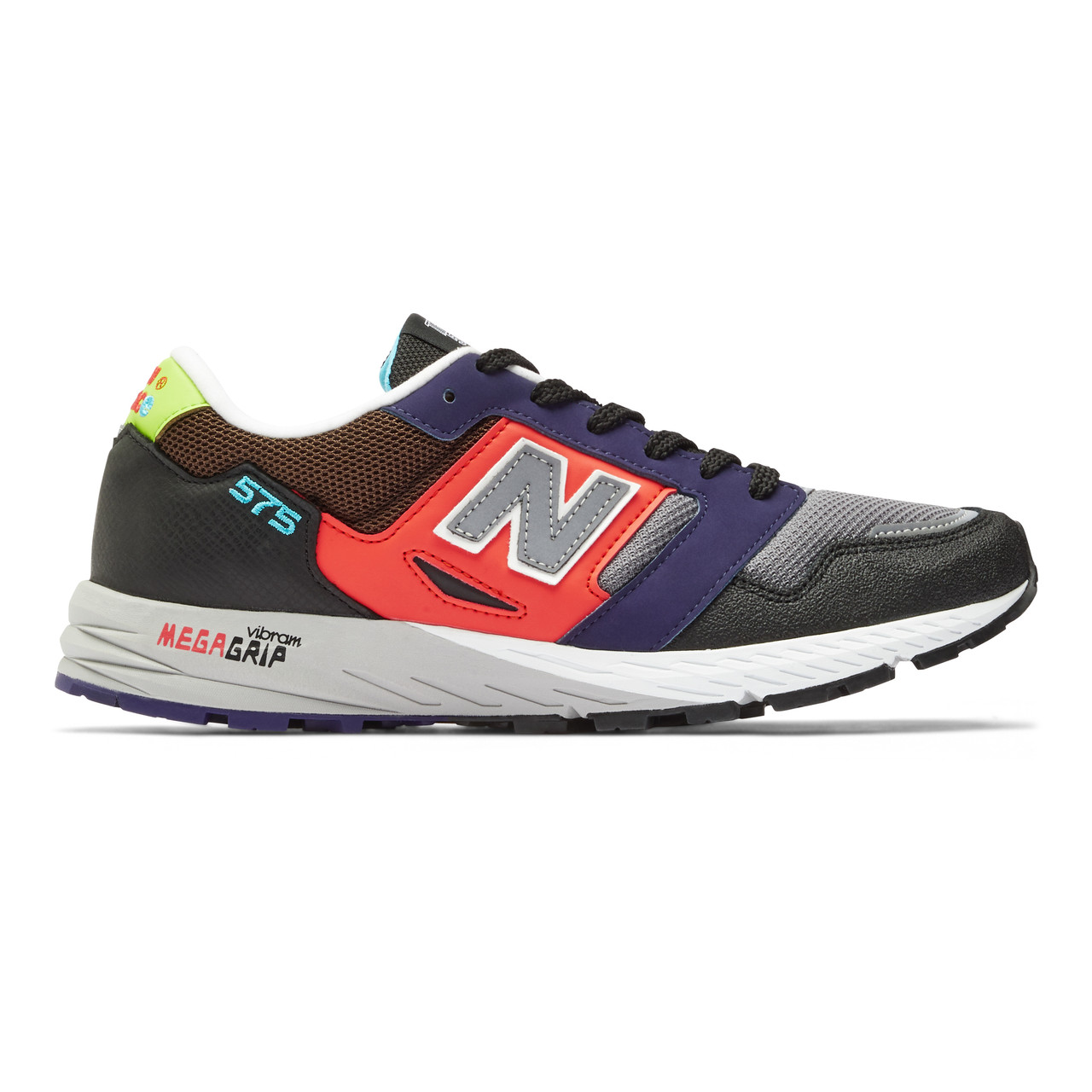 New Balance Men's Made In England 575 - Black with Red and Purple