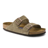 Birkenstock Arizona Soft Footbed - Taupe Suede (Narrow Width) - 951303 - Angle