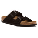 Birkenstock Arizona Soft Footbed - Black Suede (Narrow Width) - 951323 - Angle