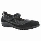 Naot Women's Kirei - Black Madras Leather / Black Suede / Black Patent